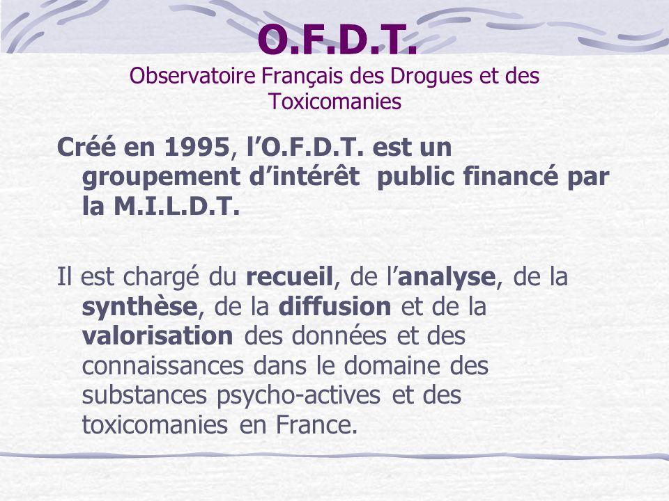 O.F.D.T. Observatoire Français des Drogues et des Toxicomanies