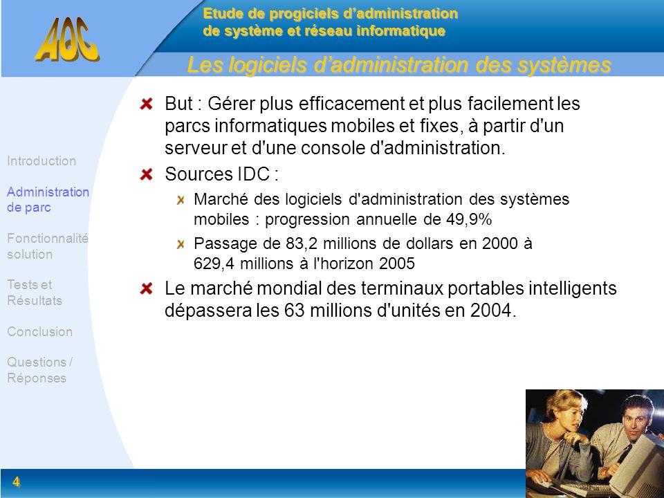 Les logiciels d'administration des systèmes