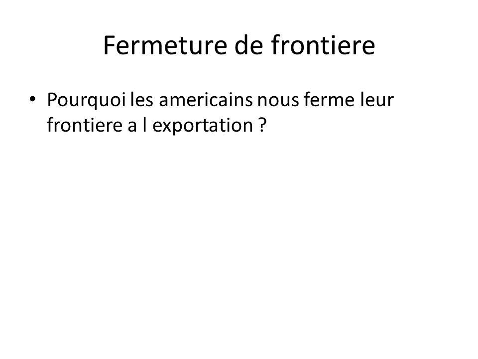 Fermeture de frontiere