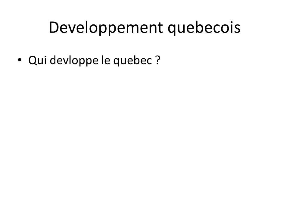 Developpement quebecois