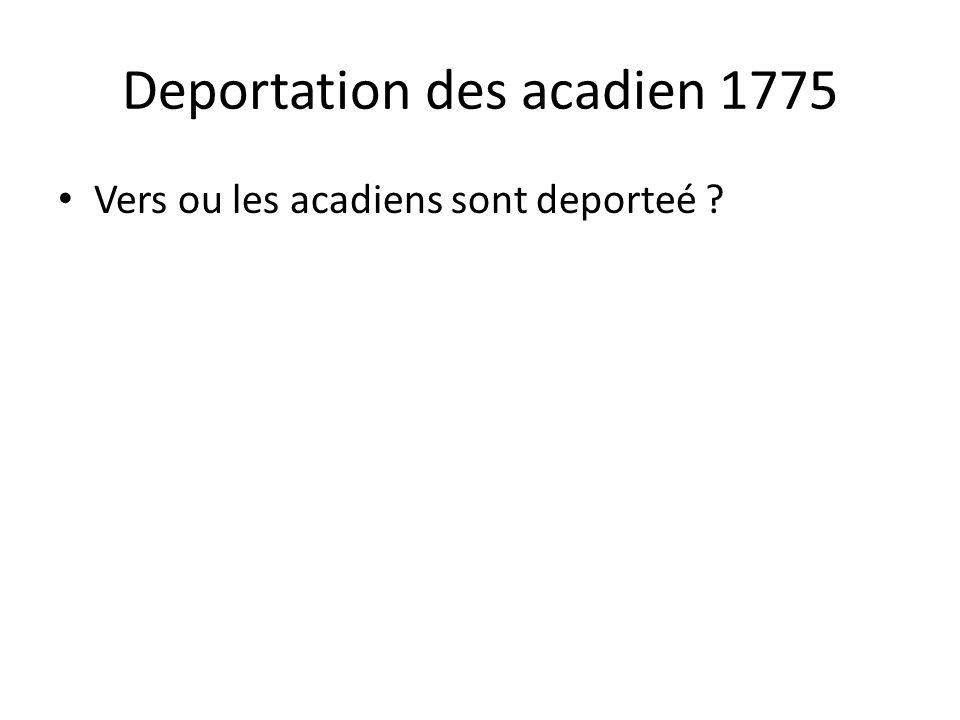 Deportation des acadien 1775