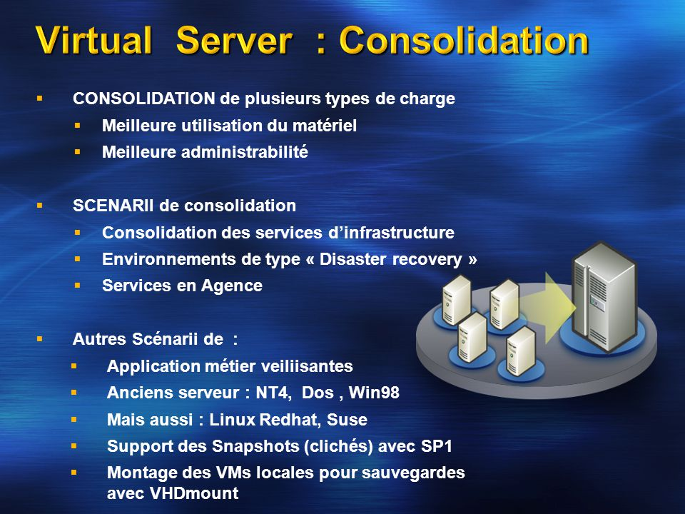 Virtual Server : Consolidation