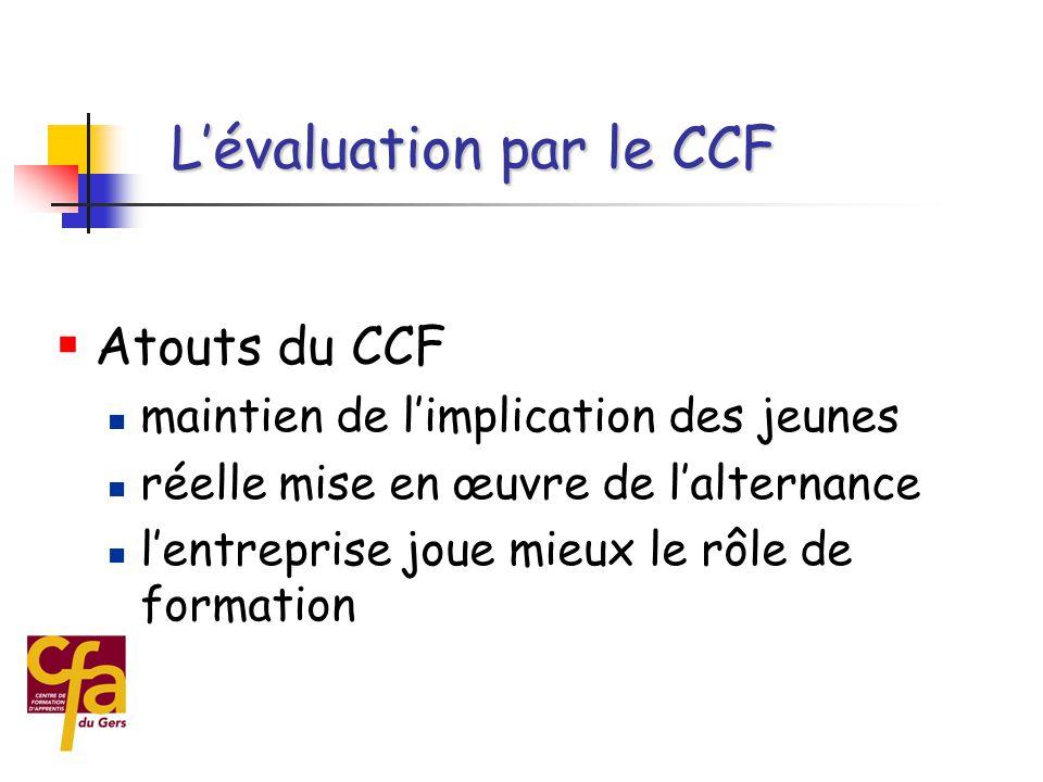 L'évaluation par le CCF