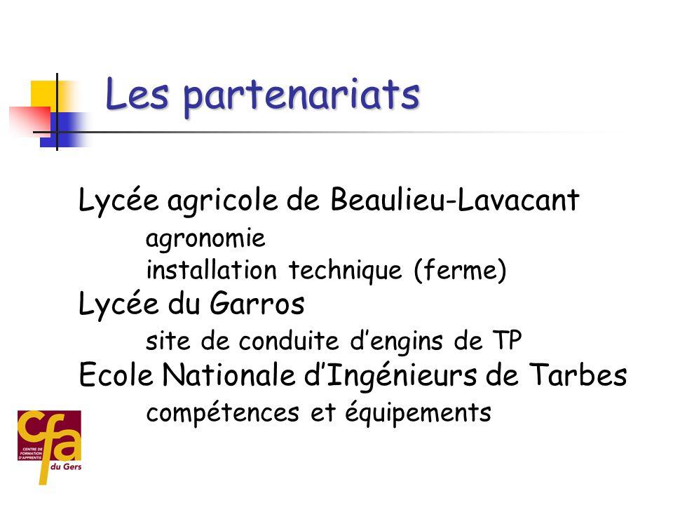 Les partenariats Lycée agricole de Beaulieu-Lavacant agronomie