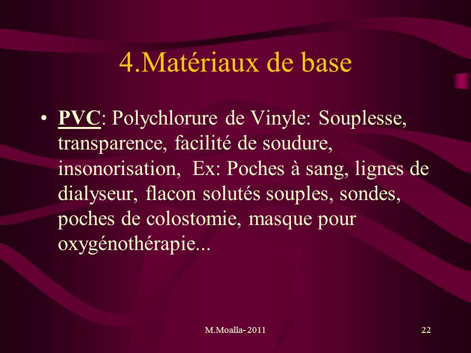 4.Matériaux de base