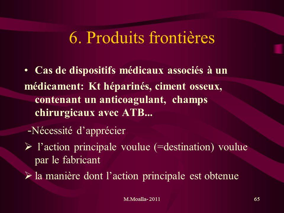 6. Produits frontières -Nécessité d'apprécier