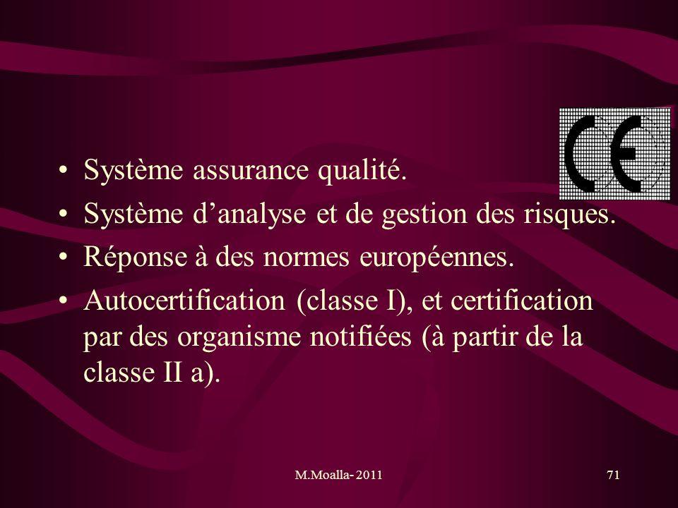 Système assurance qualité.