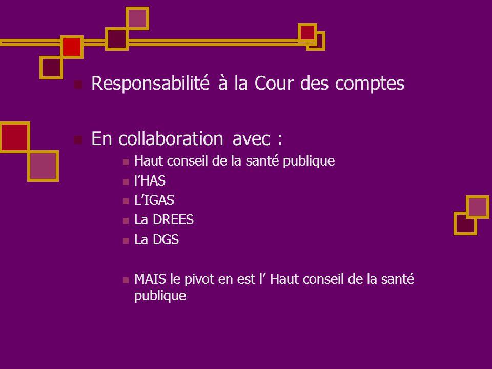 Responsabilité à la Cour des comptes En collaboration avec :