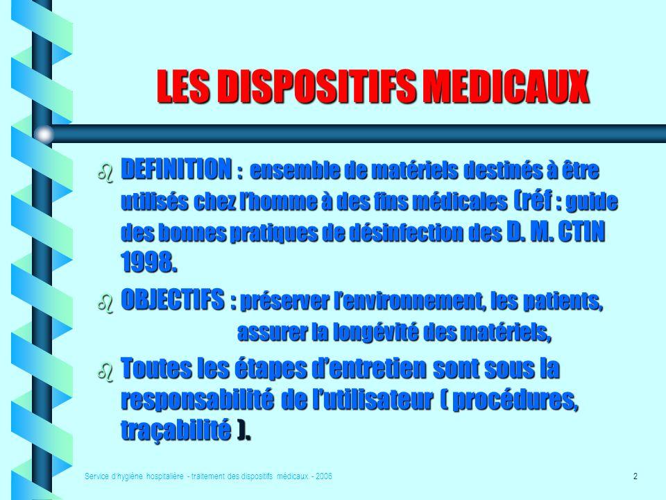 LES DISPOSITIFS MEDICAUX