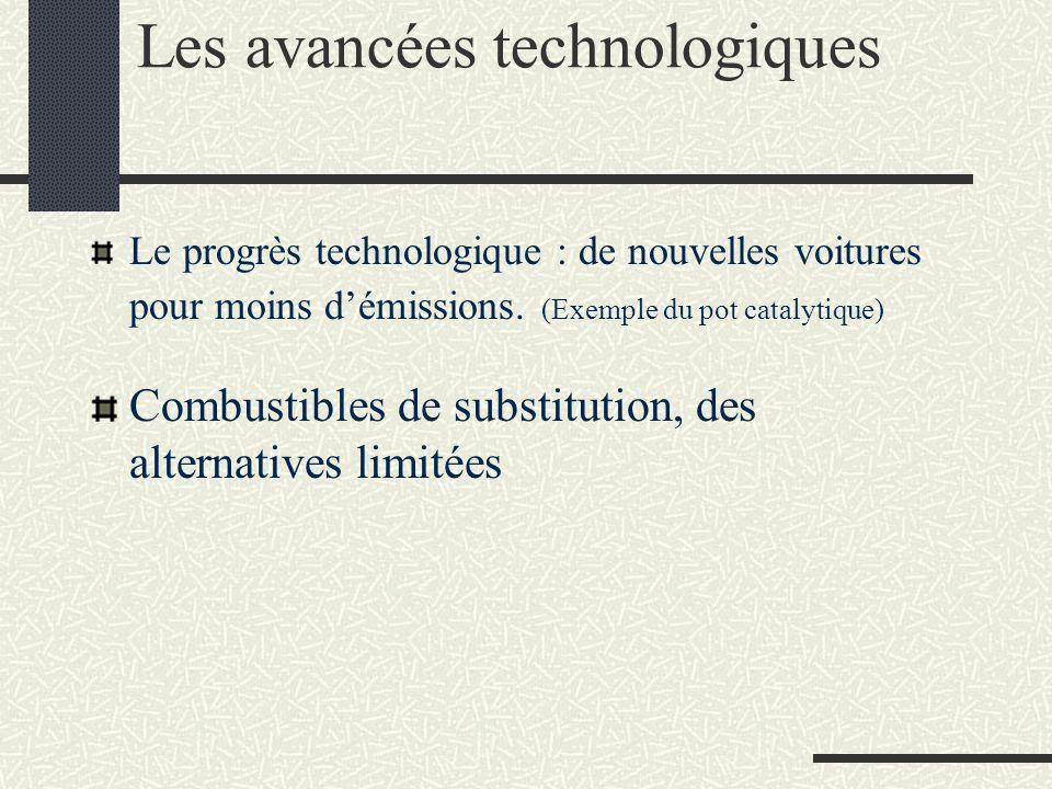 Les avancées technologiques