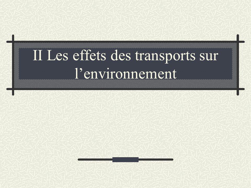 II Les effets des transports sur l'environnement