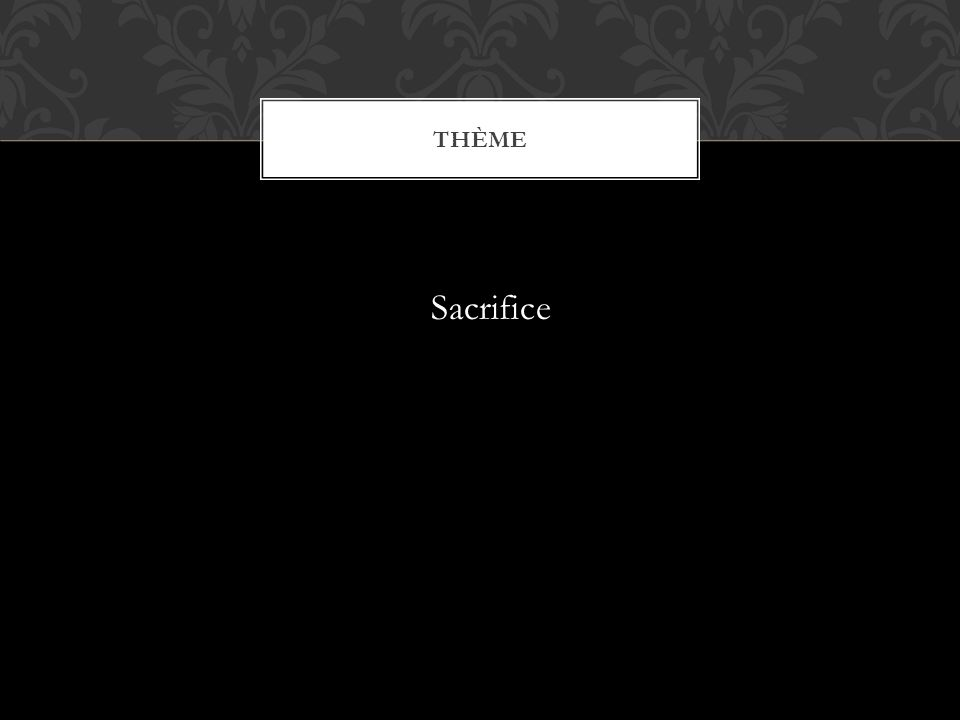 Thème Sacrifice