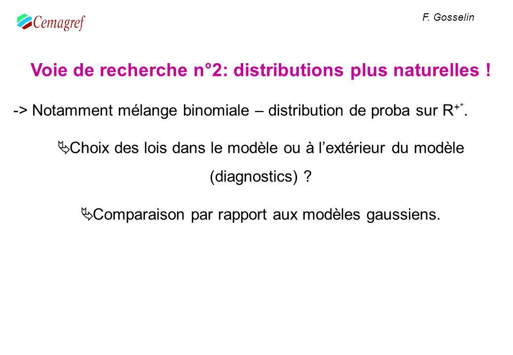 Voie de recherche n°2: distributions plus naturelles !