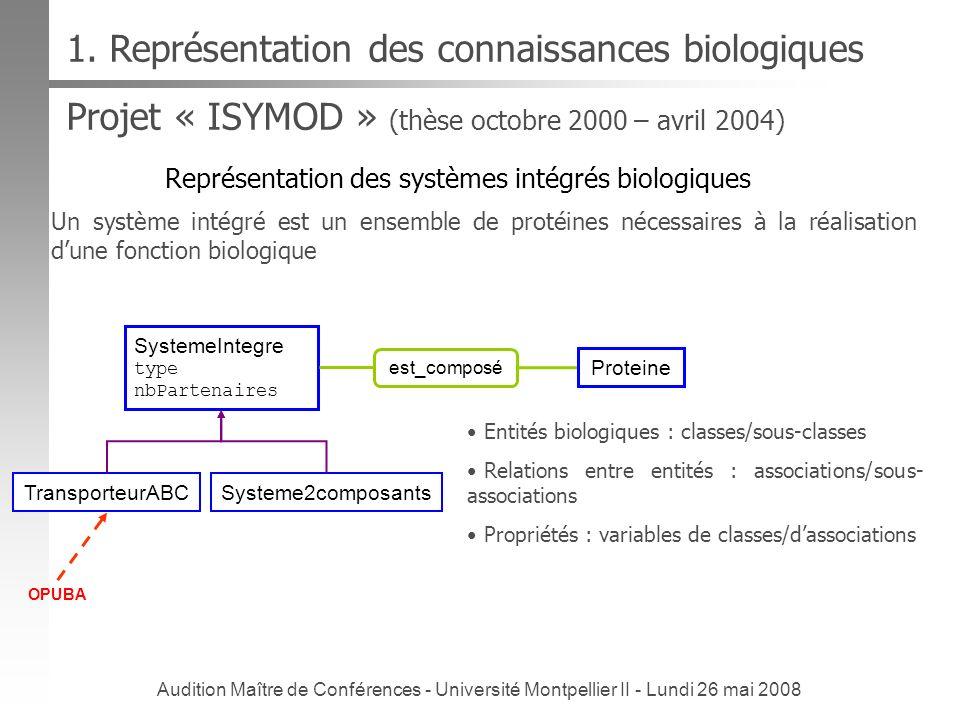 1. Représentation des connaissances biologiques
