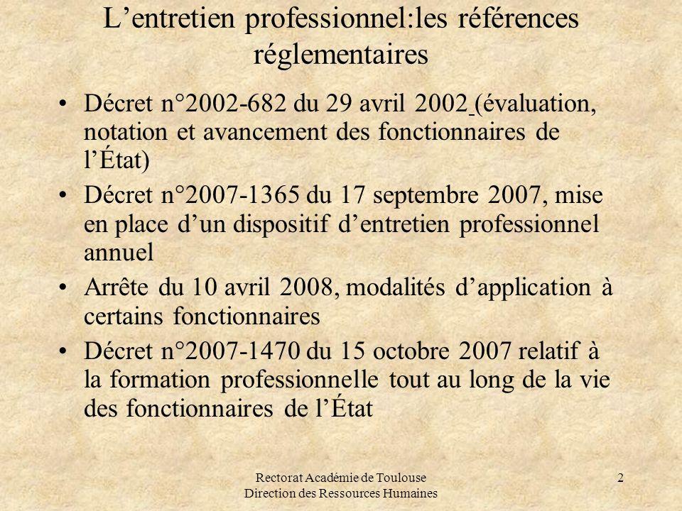 L'entretien professionnel:les références réglementaires