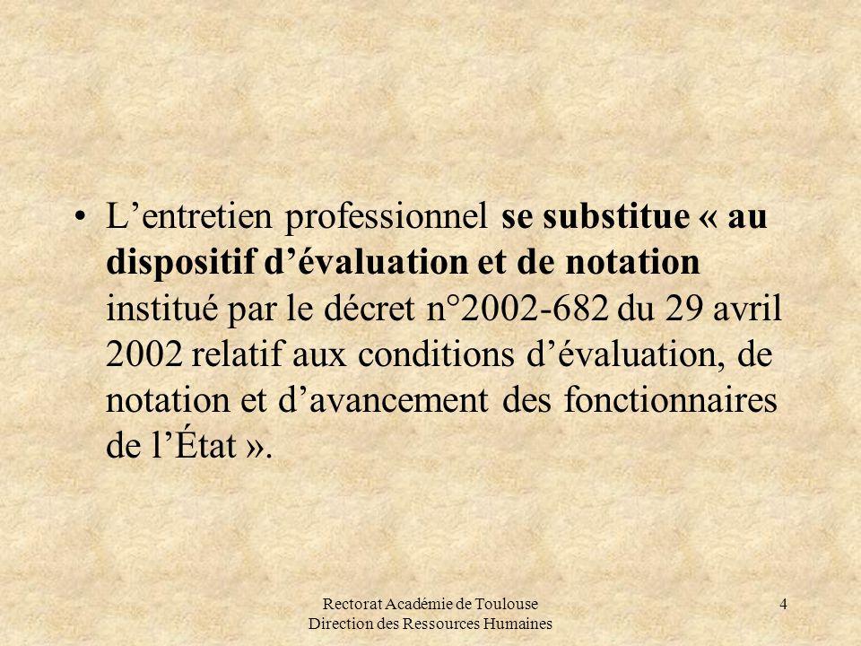 Rectorat Académie de Toulouse Direction des Ressources Humaines