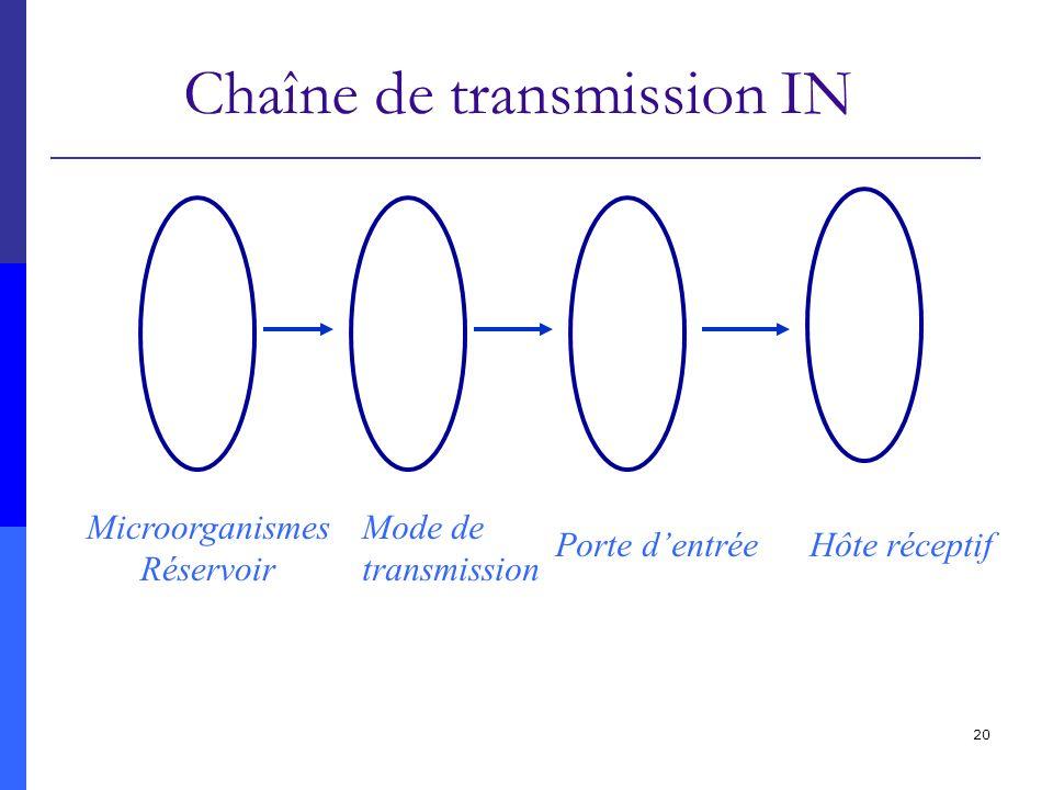 Chaîne de transmission IN