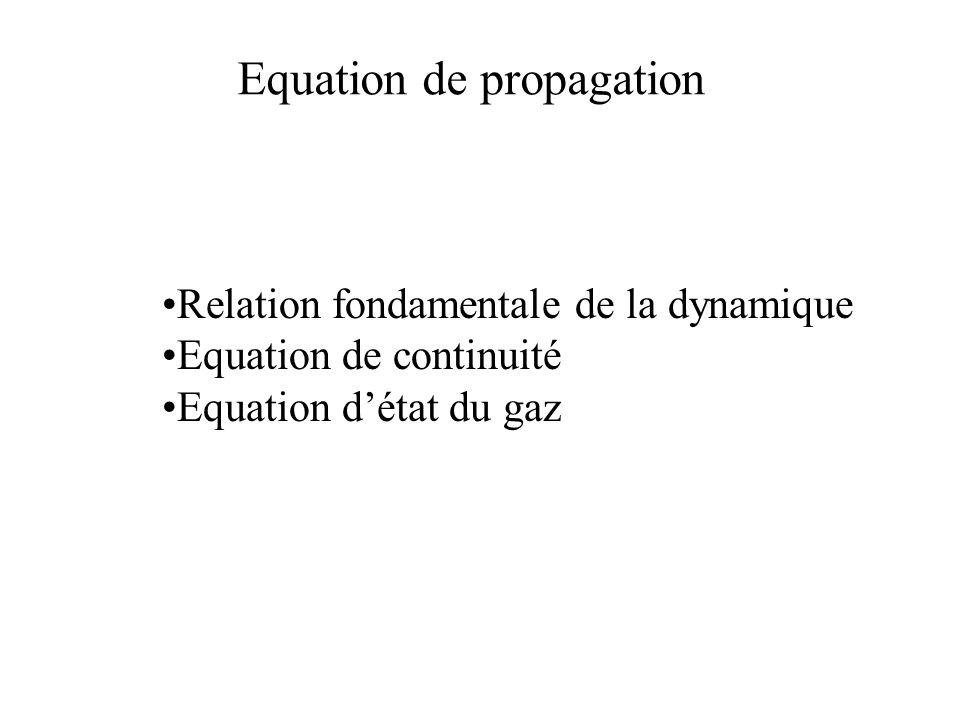 Equation de propagation