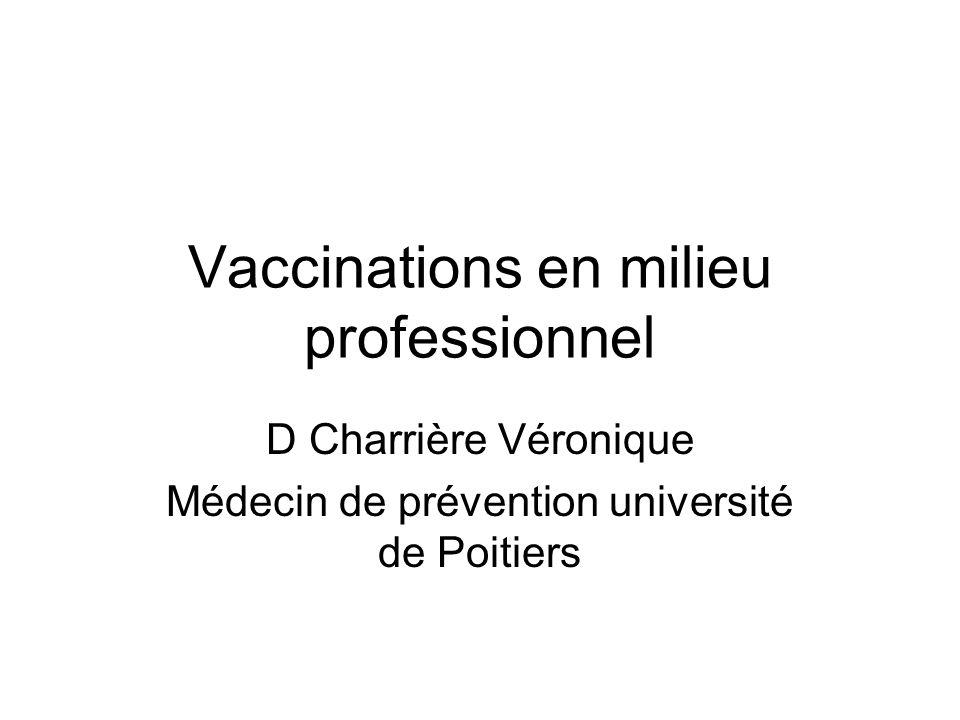 Vaccinations en milieu professionnel