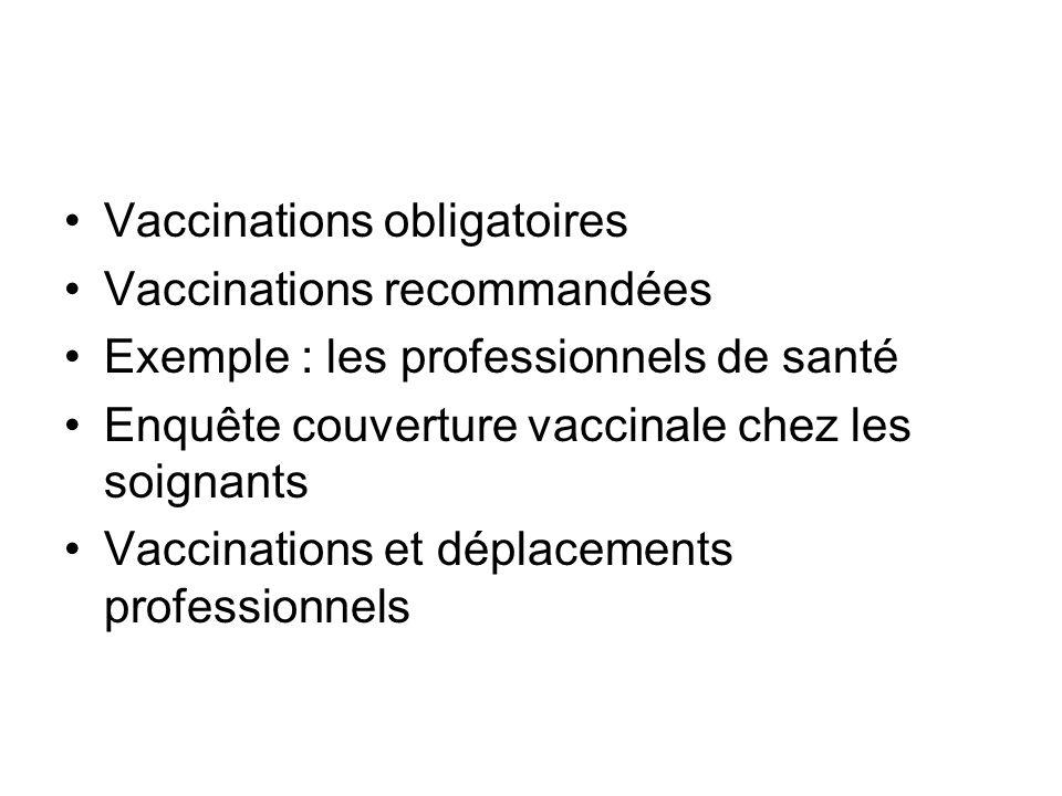 Vaccinations obligatoires