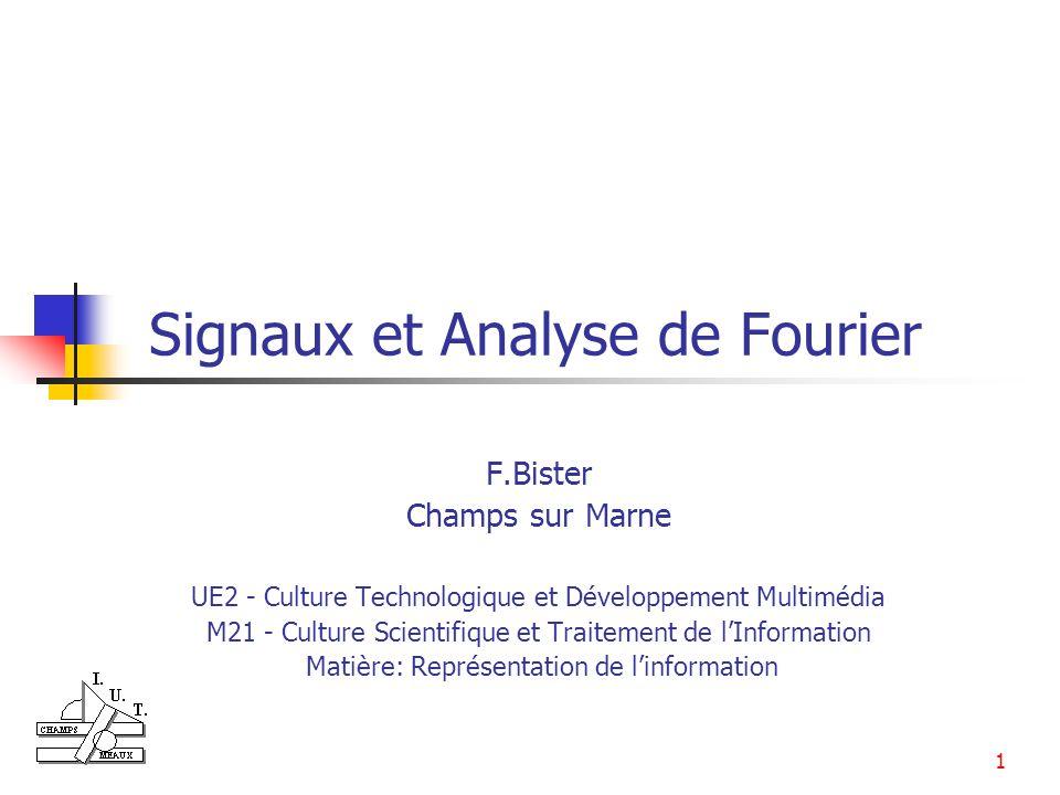 Signaux et Analyse de Fourier