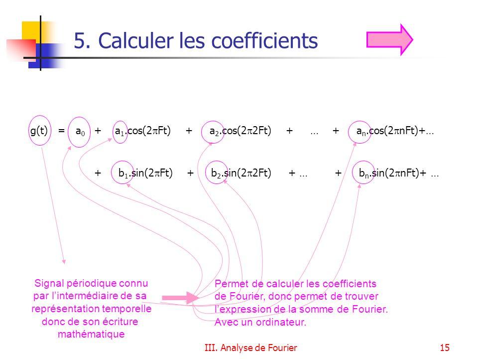 5. Calculer les coefficients