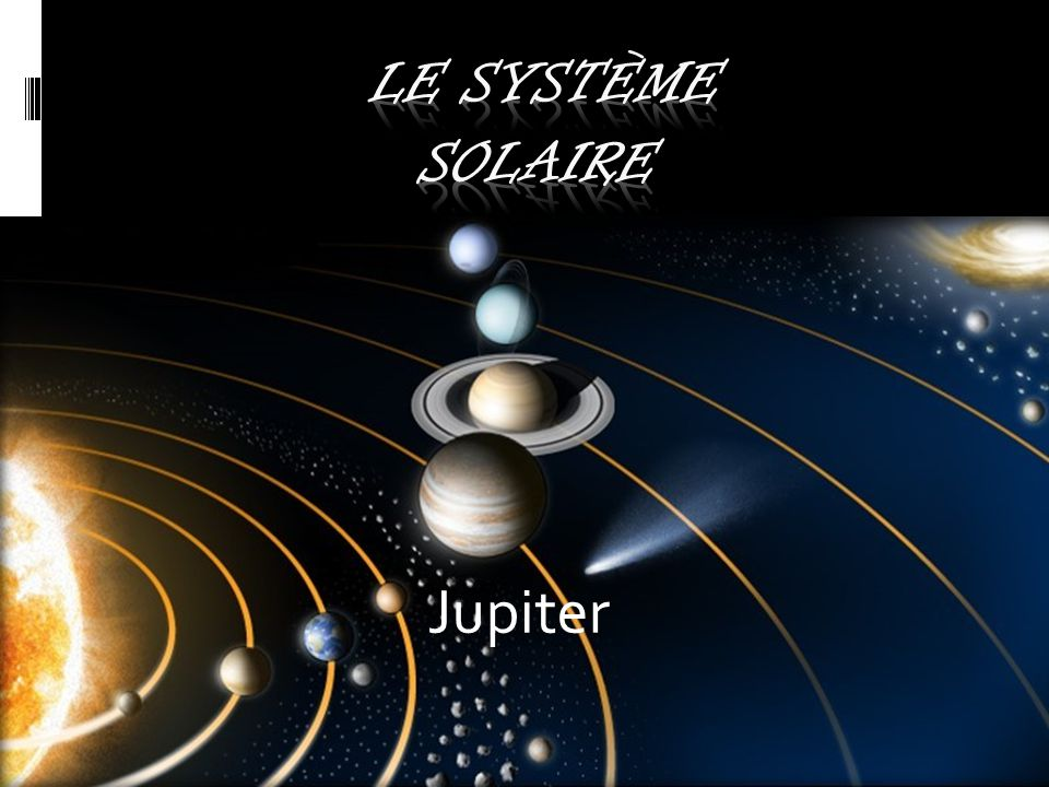 le système solaire Jupiter