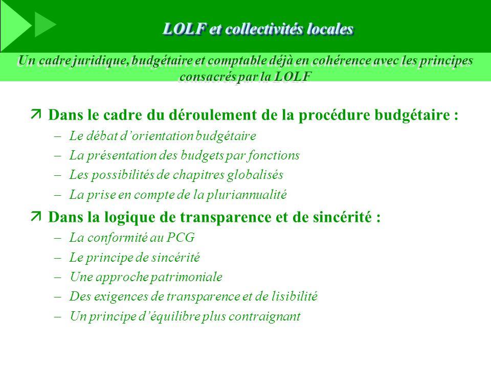 LOLF et collectivités locales