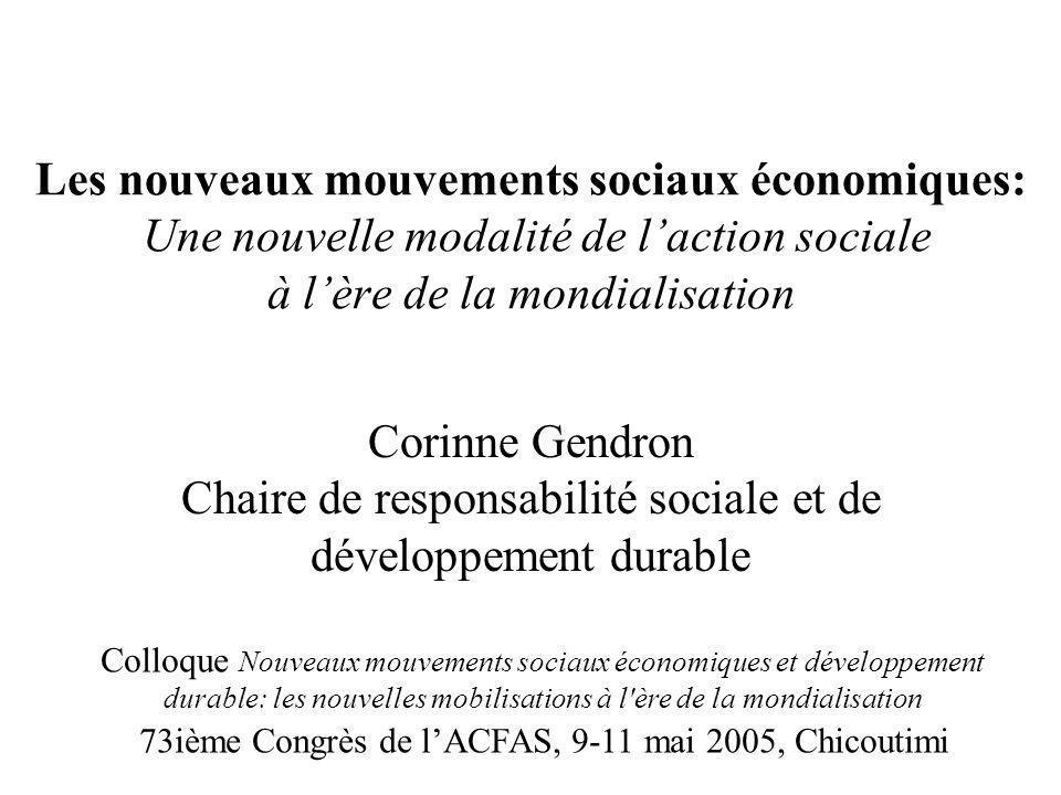 Les nouveaux mouvements sociaux économiques: Une nouvelle modalité de l'action sociale à l'ère de la mondialisation