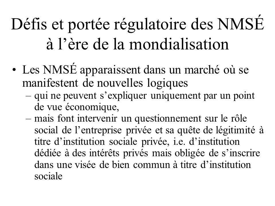 Défis et portée régulatoire des NMSÉ à l'ère de la mondialisation