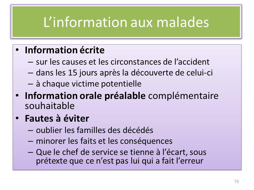 L'information aux malades