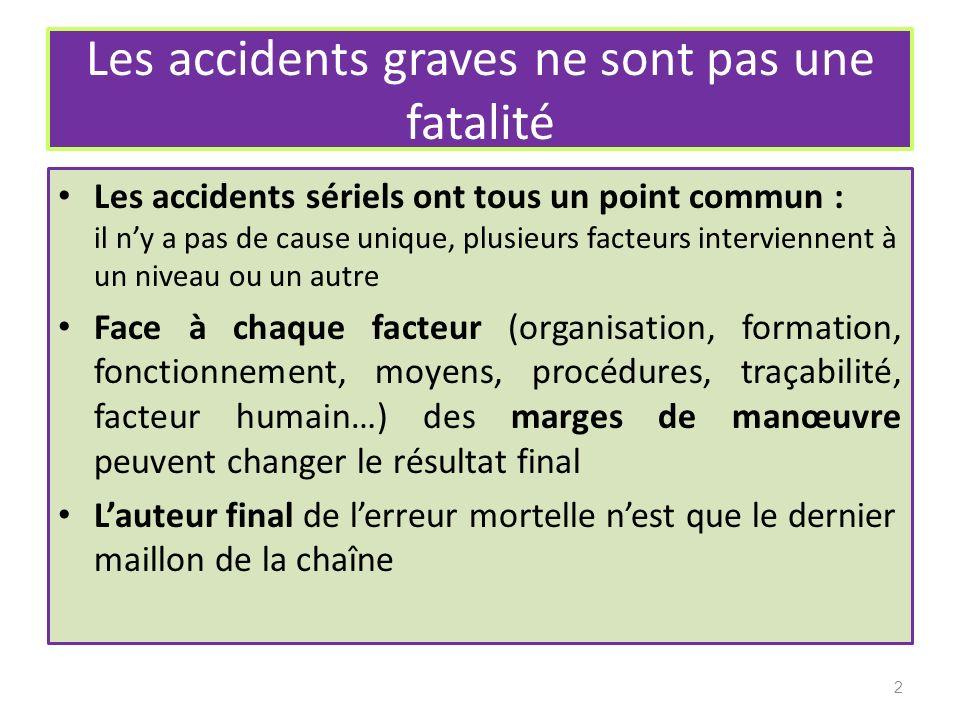 Les accidents graves ne sont pas une fatalité
