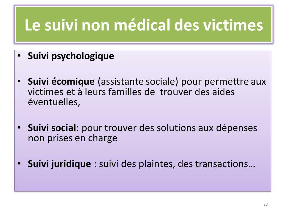 Le suivi non médical des victimes