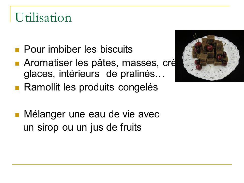 Utilisation Pour imbiber les biscuits