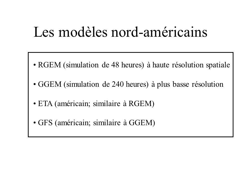 Les modèles nord-américains