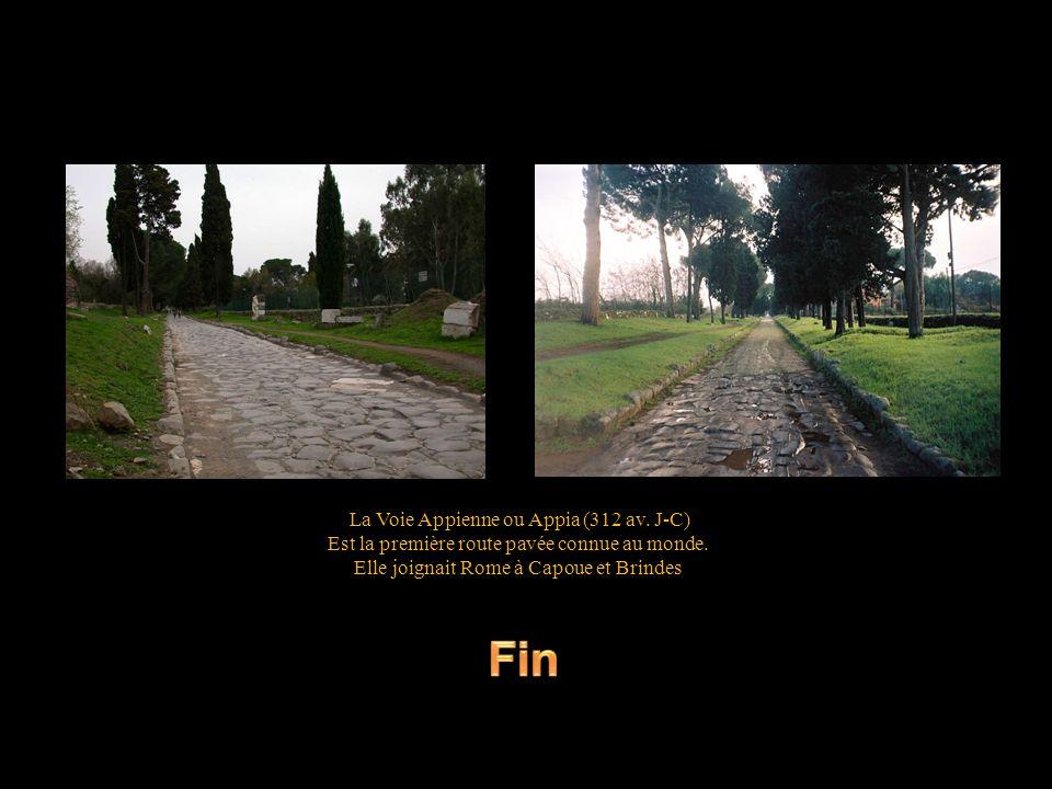 Fin La Voie Appienne ou Appia (312 av. J-C)