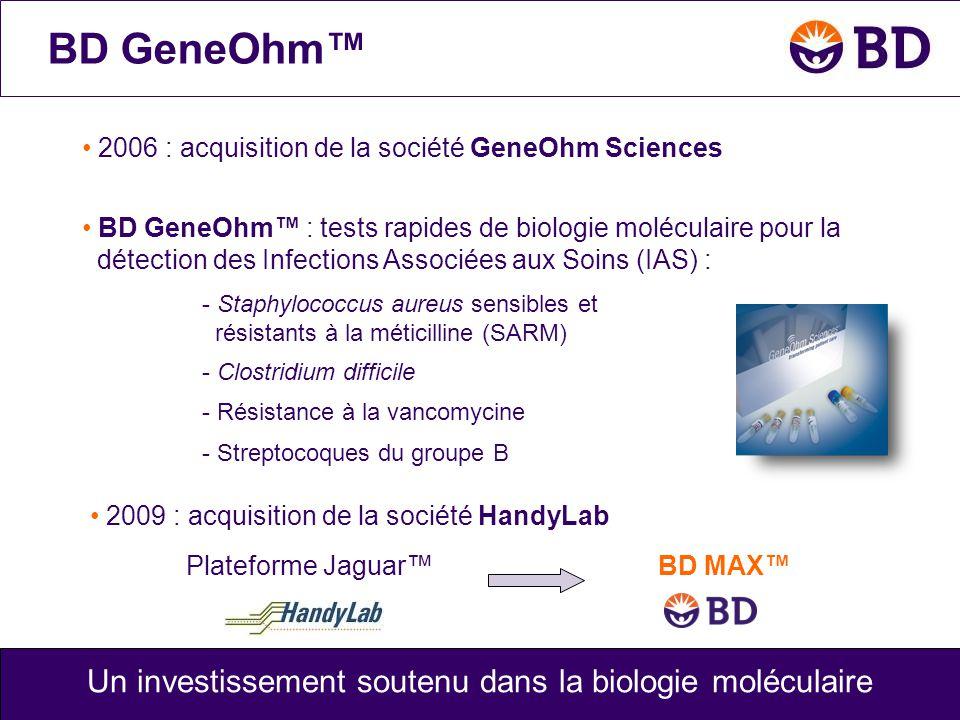 Un investissement soutenu dans la biologie moléculaire
