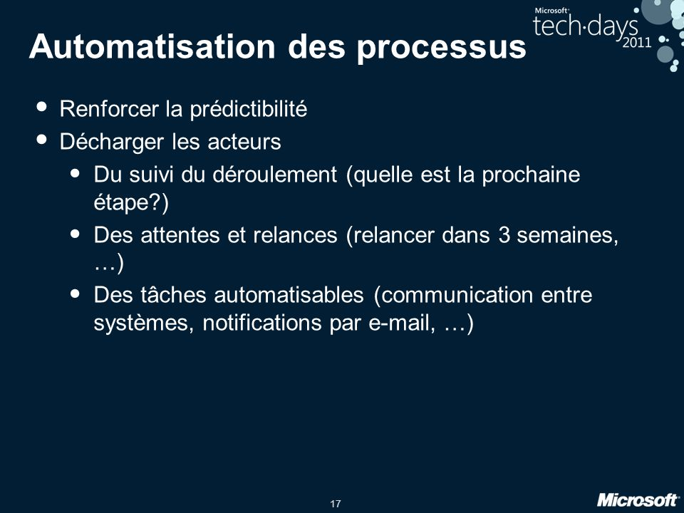 Automatisation des processus