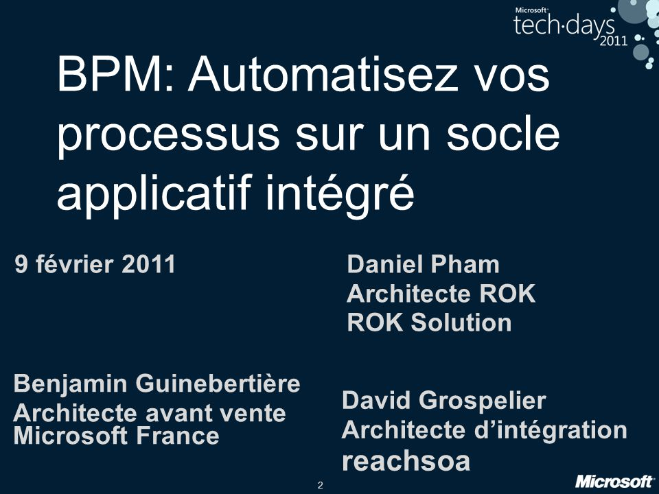 BPM: Automatisez vos processus sur un socle applicatif intégré