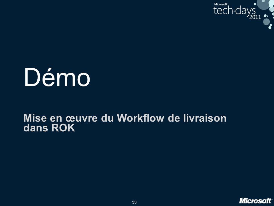Mise en œuvre du Workflow de livraison dans ROK