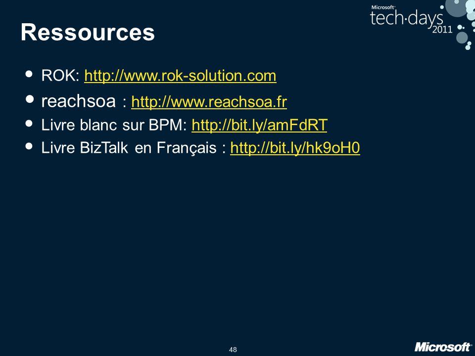Ressources reachsoa : http://www.reachsoa.fr
