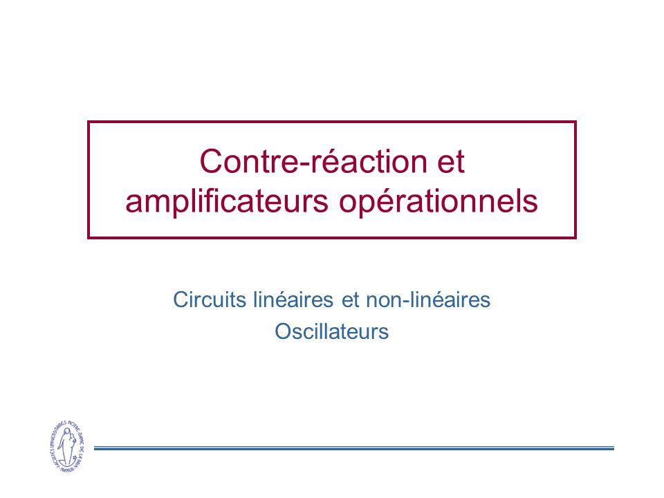 Contre-réaction et amplificateurs opérationnels