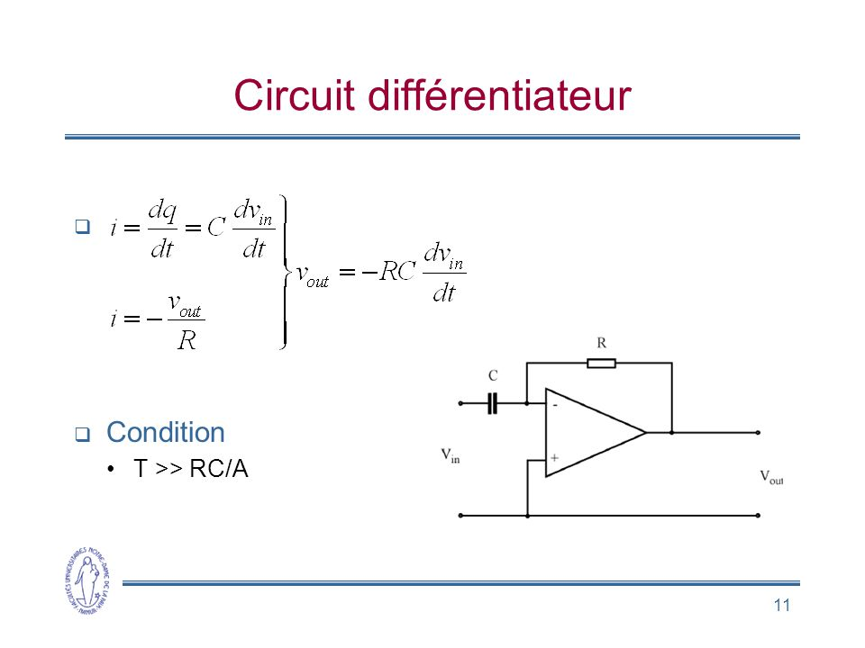 Circuit différentiateur