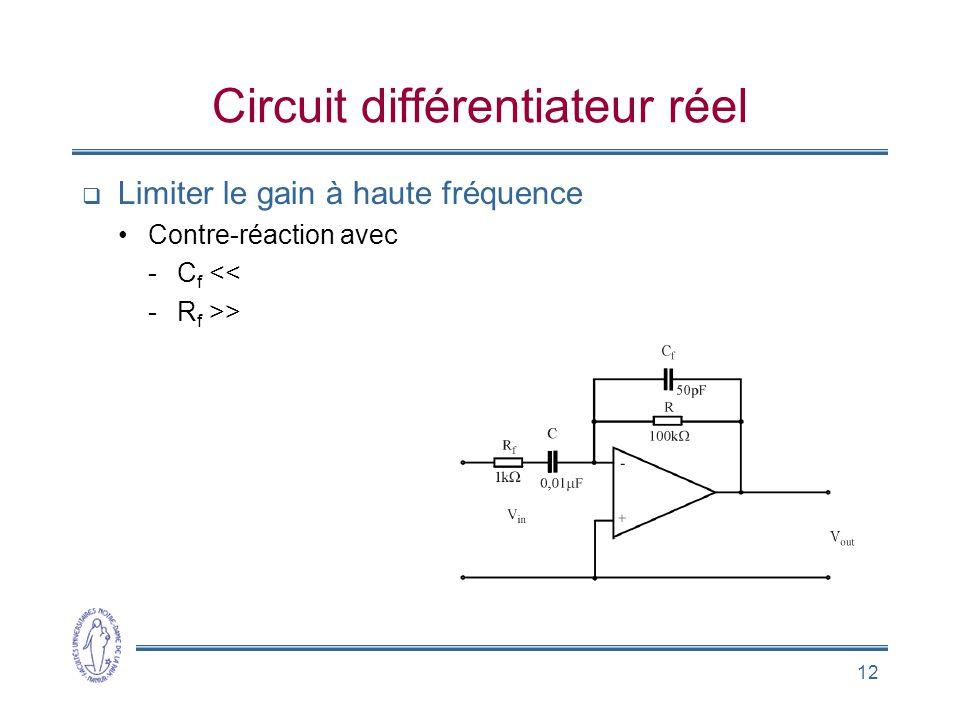 Circuit différentiateur réel