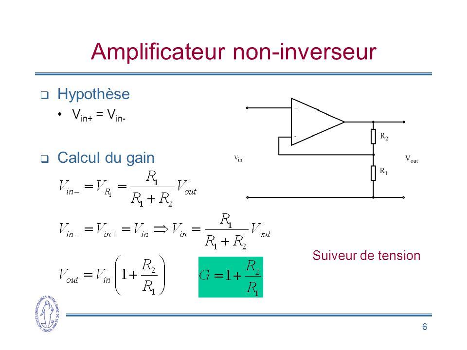 Amplificateur non-inverseur
