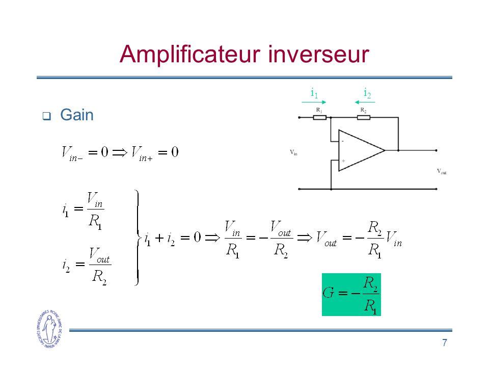 Amplificateur inverseur