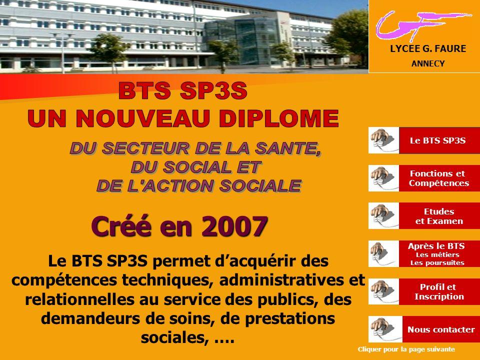 Créé en 2007 DU SECTEUR DE LA SANTE, DU SOCIAL ET DE L ACTION SOCIALE