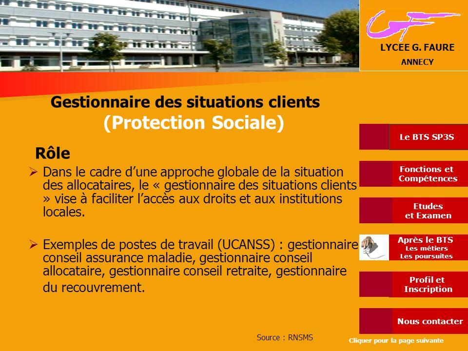 Gestionnaire des situations clients (Protection Sociale)
