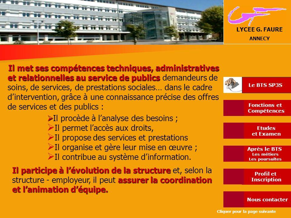 Il permet l'accès aux droits, Il propose des services et prestations