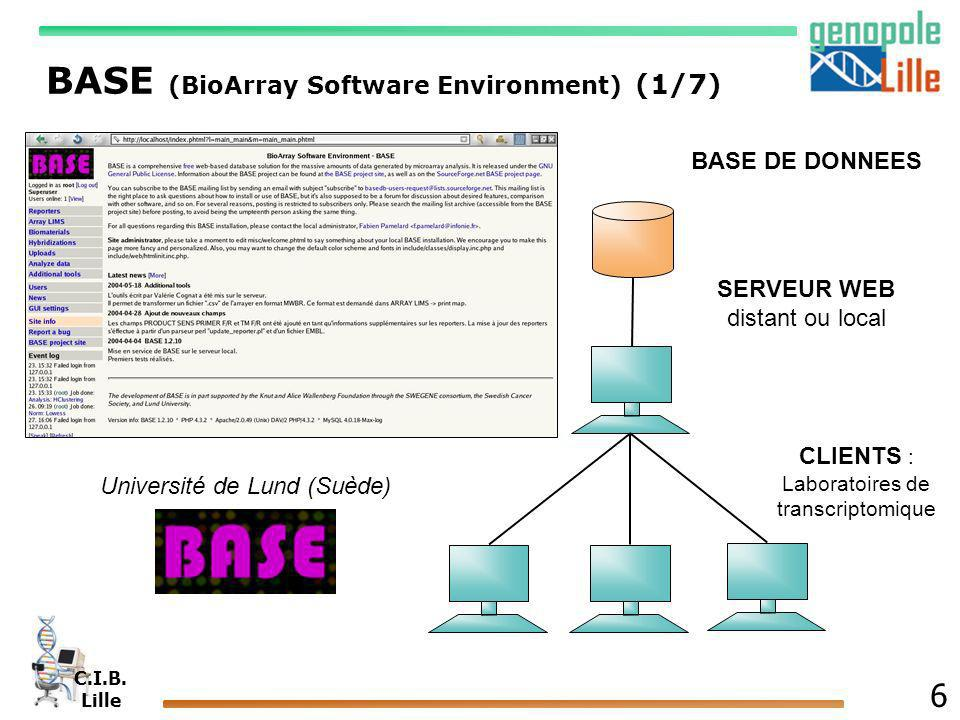 BASE (BioArray Software Environment) (1/7)